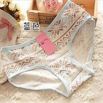 4 Pcs Blue Snowflake Women Briefs Panties Underpants Lingerie Underwear Photo