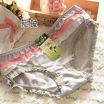 4 Pcs Gray Falbala Women Briefs Panties Underpants Lingerie Underwear Photo