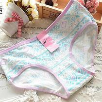 4 Pcs Purple Snowflake Women Briefs Panties Underpants Lingerie Underwear Photo