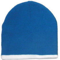 4 Pcs Wholesale Soft Knit Beanie Cap With 2-Color Combos Photo
