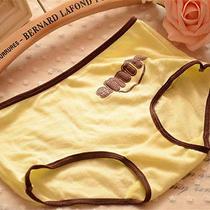 4 Pcs Yellow Smile Women Briefs Panties Underpants Lingerie Underwear Photo