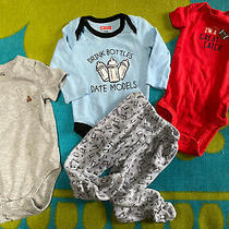 4 Piece Baby Clothing Lot 6 6-9 and 6-12 Month Baby Gap Carters Swiggles Photo