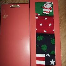 4 Pr Mossimo Mens Holiday Patriotic Socks Nib Shoe Size 8 - 12  Photo