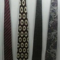 4 Vintage Christion Dior & Other Brands Ties Multi Color Maroon  Photo