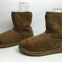 4 Womens Ugg Australia Winter Suede Brown Boots Size 7 Photo