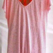 40 Lane Bryant Lace Back Swing Tank Hot Coral Tee Blouse 2x 18/20 Top Photo