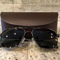 400 Oliver Peoples Linford Black Chrome Vfx Polarized Sunglasses Nwot Photo