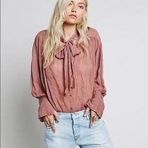 4031 New Free People Fp One Tie Front Buttondown Shapeless Blouse Tunic Top M 8 Photo