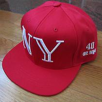 40oz Van Nyc Balmain Snapback Camp Cap Hat New York Ny Red 9/11 Wtc Twin Towers Photo