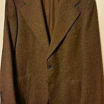 40r Ysl 100% Wool 2 Button Sport Coat Yves Saint Laurent Brown  Photo