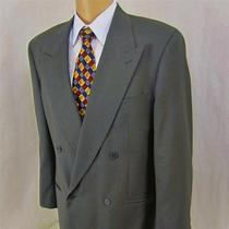 41 R Giorgio Armani Mani Taupe Brown Gray Wool Mens Db 2 Pc Suit Jacket Italy 40 Photo