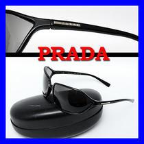 410 Prada Men's Logo Plate Black Sunglasses Photo