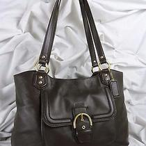 418.00 Coach Campbell Belle Leather Carryall 24961 Mahogany  Mint/ln  ) Photo
