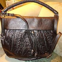 425 Nwt Brighton Nina Leather Purse Satchel Crossbody Bag  in Pewter-Silver Photo