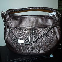 425nwt Brighton Nina Pewter Gunmetal Soft Leather Shoulder Crossbody Bag H3313p Photo