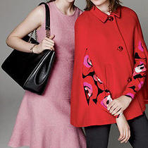 428.kate Spade New York Pink Fluted Boucle  Fit & Flare Dress Size 4 New Photo