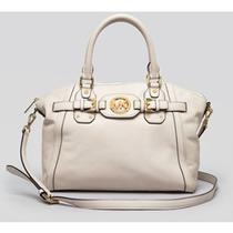 428 Michael by Michael Kors Hudson Tote Satchel Vanilla Handbag Leather Bag Photo