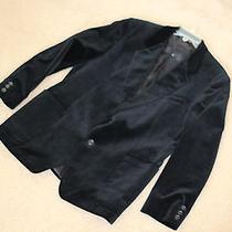 42r 44r Black Velvet Jacket Oscar De La Renta Photo