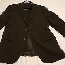 (42r) Express Men S Black 2 Button  Wool Blazer Suit Sport Coat Jacket Photo
