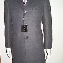42s Overcoat Slim Fit Made in Italy Yves Saint laurent.modern Grey 3/4 Overcoat. Photo