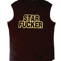 445 Dsquared  Star Fcker Tee Trunk Sleeveless Tshirt Brown Black Gold Logo M L Photo