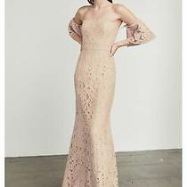 448 Bcbg Maxazria Women's Pink Off the Shoulder Knit Evening Dress Size 10 Photo