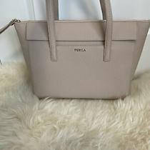 448 Furla Leather Medium Tote Shoulder Bag Women's Handbag Blush Pink/ Beige Photo