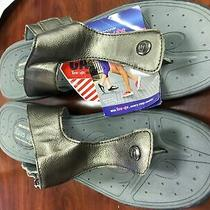 45 Skechers Sport Women's t'lites-Element Thong Sandal 38728 Pewter 10 M Us Photo