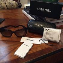 450 Authentic Chanel 5076-H Brown Mother of Pearl Cc Logo Sunglasses With Case  Photo