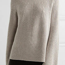 450 New Nwt Authentic Helmut Lang Women's Cashmere Wool Ribbed Sweater Small Photo