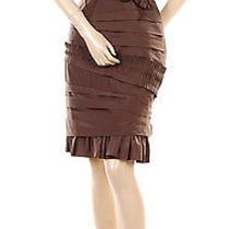 452 New Bcbg Mohagony Silk Taffeta Woven Party Dress 2 Photo
