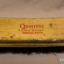454m Vtg Quintone Wood Horsehair Mixture Shoe Shine Brush Curved Wood 5 3/4