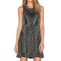 462 Parker Nwt Womens Sz 0 Xs Black Allegra Sequin Embellished Sleeveless Dress Photo