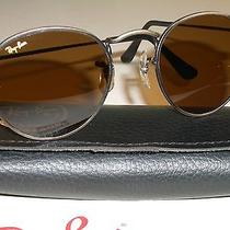 46mm b&l Ray Ban B15 Brown Glass  Antique Gunmetal Round Aviator Sunglasses New Photo