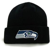 '47 Brand Men's Seattle Seahawks Matterhorn Natural Knit Cuff Hat  Black Photo