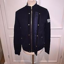 470 Moncler Gamme Bleu Cotton Bomber Jacket Medium  Photo