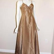 475 Nicole Miller Bronze Silk Taffeta Dress Gown 2 New Photo