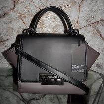 475 Nwt Zac Posen Eartha Mini Shadow Zp1264 Top Handle Black Leather Satchel Photo