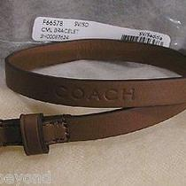 48.00 - Nwt - Coach Camden Leather Double Wrap Bracelet Brown  F66578 Photo
