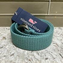 48 Vineyard Vines Solid Canvas D-Ring Belt Mens Size Xs Greenwich Green Nwt Photo