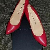 480 Marc by Marc Jacobs Classic Red Leather Heels Pumps Shoes Size 8.5 Photo