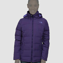 482 the North Face Women Purple Fossil Ridge Hooded Parka Jacket Coat Size Xs Photo