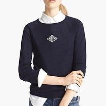 485 'Boy' by Band of Outsiders Cashmere & Silk Monogram Sweater 5 Nwt Photo