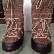 485 Fendi Hazelnut Snow Boots 38-40 New Check Out My Other Items on Sale.. Photo