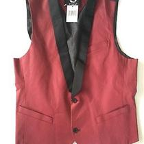49 G by Guess Mens Raffi Coated Vest in Red Size M Photo