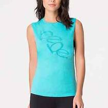 49 Nwt New Bebe Sport Teal Ceramic Dropped Armhole Tank Top M Photo