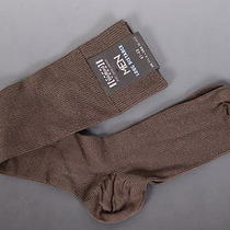 49 Wolford Made in Austria Brown Knee High Cotton Socks Size 41 / 43  Nwt Photo