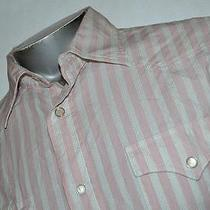 4922-D Mens Express Western Style Shirt Modern Fitted Size L Large Pearl Snaps Photo