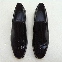 495 Bally Samar Black Lacquer Formal Dress Loafers Slip on Switzerland Us 9 Ee Photo