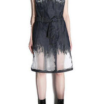 498 Diesel Womens F D 01 Dress Relax Fit Transparent Effects Size S Photo